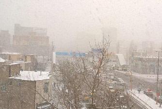 برف در اردبیل باریدن گرفت/تداوم سرما تا سه روز دیگر