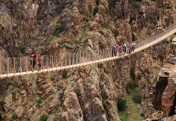 تصاویری از پل معلق پیرتقی در اردبیل