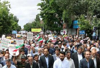 مردم استان اردبیل آزادی قدس شریف را فریاد زدند