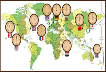 اختلاف ساعت کشورها با ایران