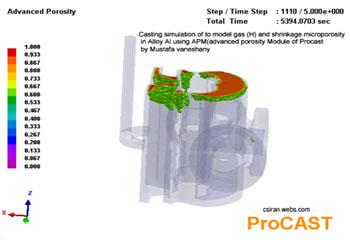 پروژه شبیه سازی ریختهگری و مدل انجمادی چدن خاکستری با استفاده از نرم افزار پروکست
