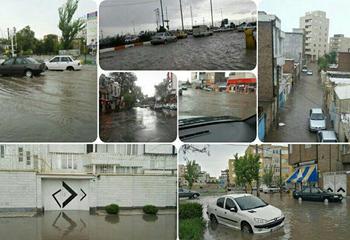سریال تکراری بارشها در اردبیل آبگرفتگی معابر و اختلال در تردد