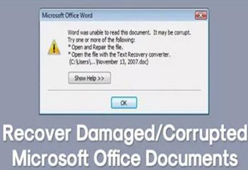 روشهای بازیابی فایلهای خراب و آسیب دیده آفیس